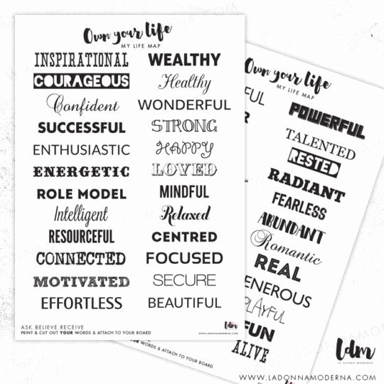 Printable Vision Board Template Luxury Vision Board Life Map