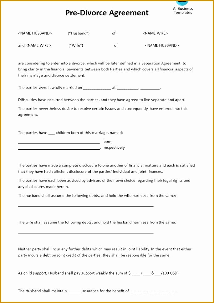 Private Settlement form Elegant 3 Private Child Support Agreement Template