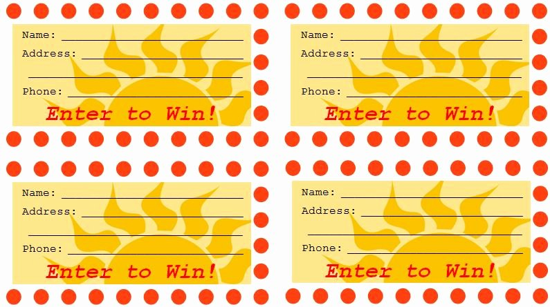 Prize Drawing Template Lovely Free Raffle Drawing Template at Getdrawings