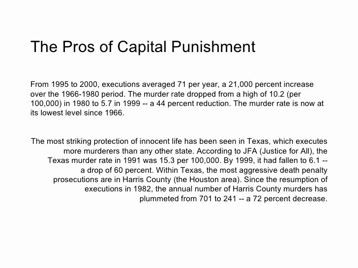 Pro Con Essay Outline Elegant Capital Punishment