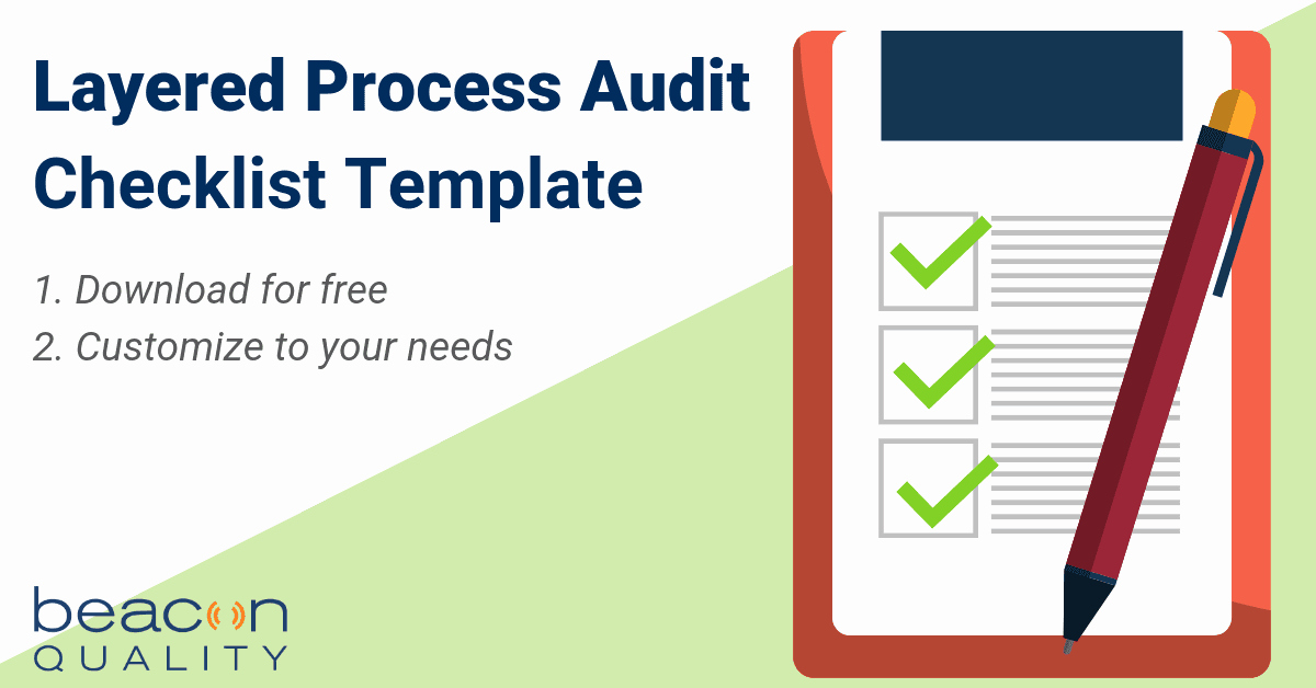 Process Audit Template Awesome Beacon Quality Blog