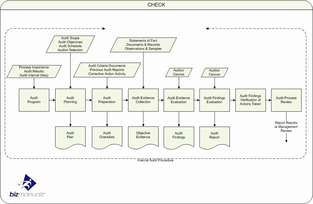 Process Audit Template Luxury iso Internal Audit Process Map