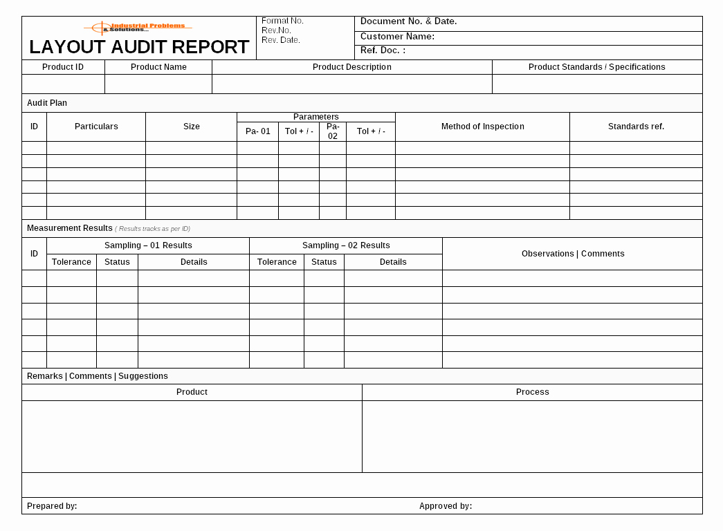 Process Audit Template Luxury Layout Audit Documents Product Process Audit