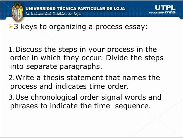 Process Essay Example Cooking Best Of Chronological order Process Essays
