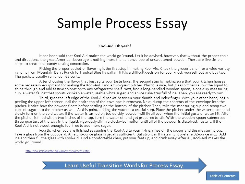 Process Essay Example Cooking Lovely 19 Examples Of Process Essays Pdf