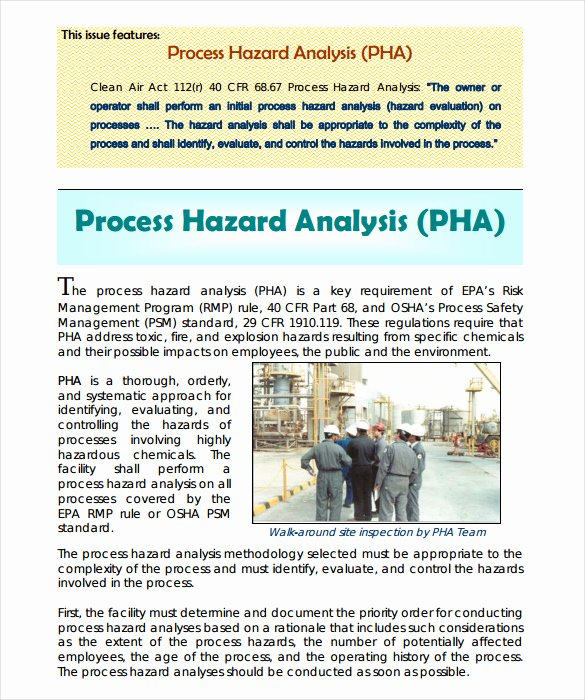 Process Hazard Analysis Template Inspirational 16 Hazard Analysis Templates Ai Psd Google Docs