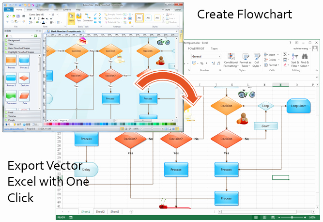 Process Map Template Excel Lovely Make Great Looking Flowcharts In Excel