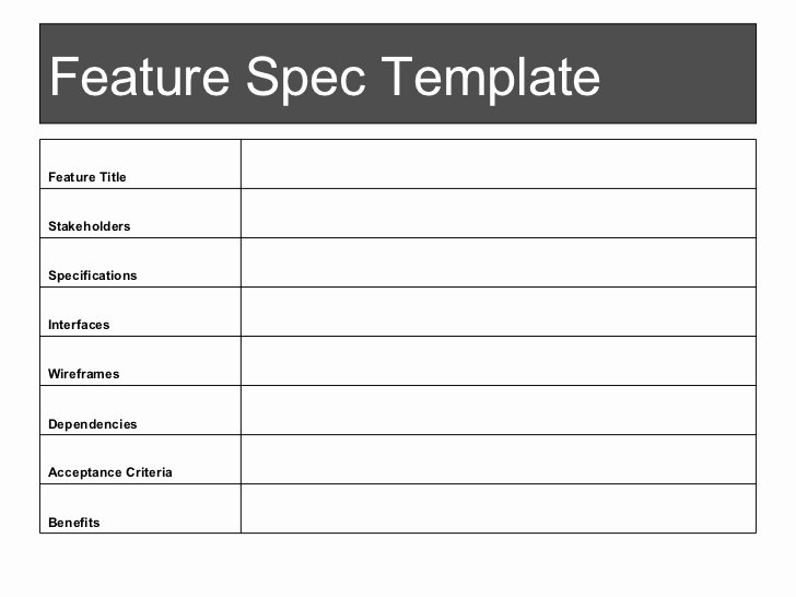 Product Spec Sheet Template Inspirational Spec Sheet Template