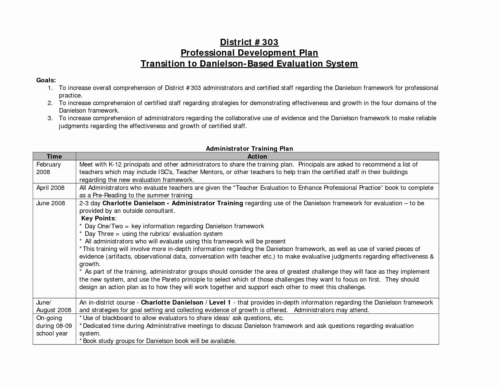 Professional Development Plan for Teachers Example Awesome Professional Development Plan Example for Teachers