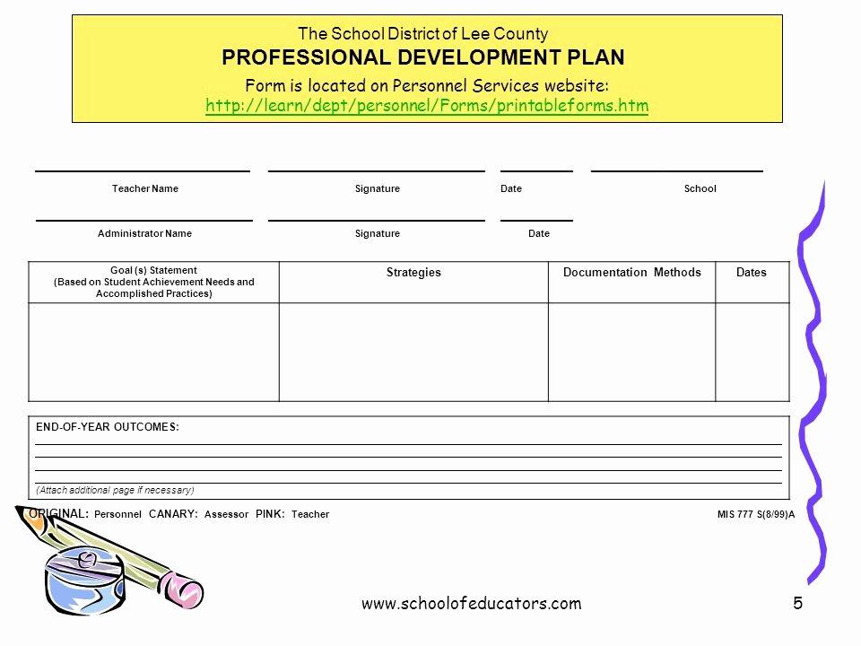 Professional Development Plan for Teachers Example Beautiful Individual Professional Development Planning for Teachers