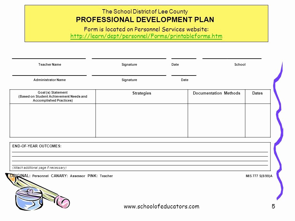 Professional Development Plan for Teachers Examples Unique Individual Professional Development Planning for Teachers