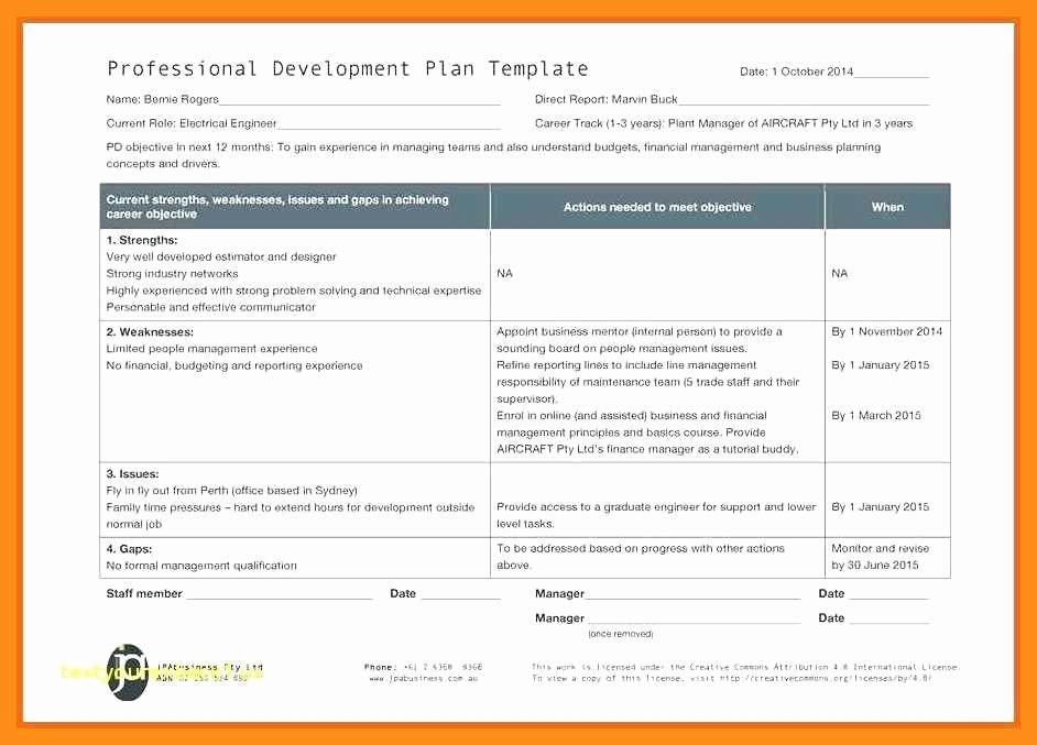 Professional Development Plan for Teachers Template Awesome 9 10 Professional Development Plans Examples