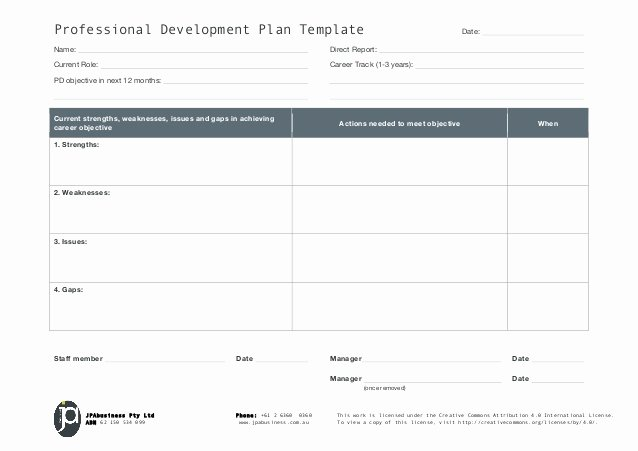 Professional Development Plan for Teachers Template Best Of Jpabusiness Professional Development Plan Template