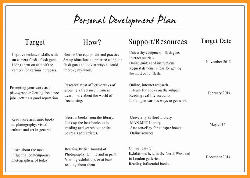 Professional Development Plan for Teachers Template Luxury 10 11 Professional Development Plan Samples