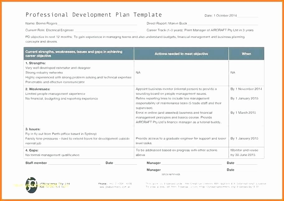 Professional Development Plan for Teachers Template Luxury Professional Development Template – Eunityfo