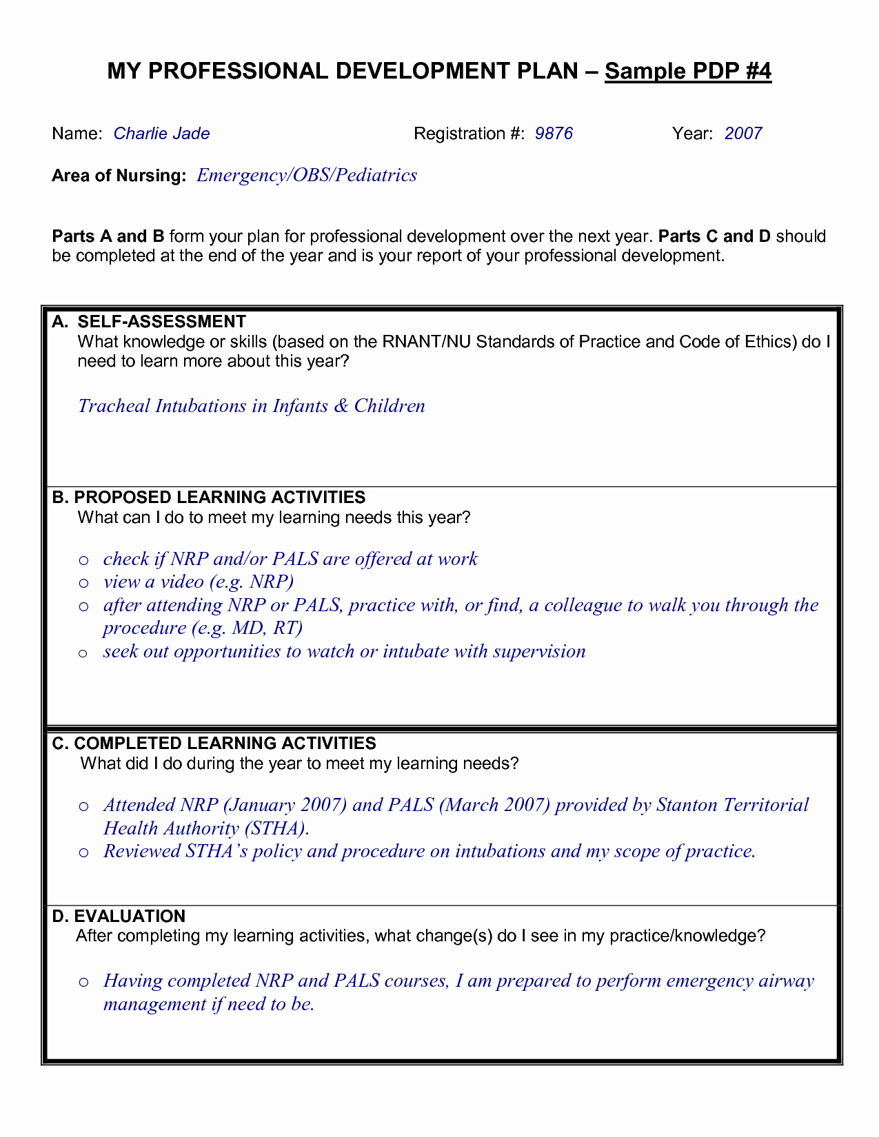 Professional Development Plan for Teachers Template Unique Sample Professional Development Plan