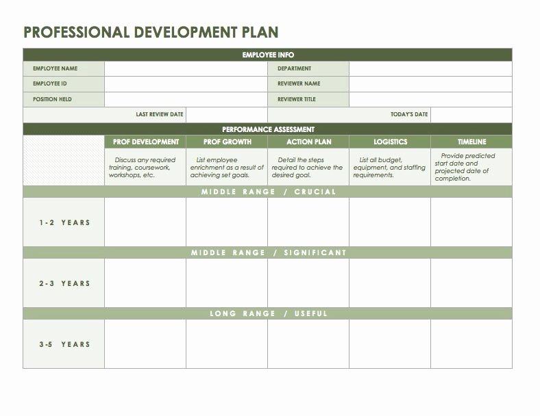 Professional Development Plan Sample Beautiful Professional Development Plan Templates