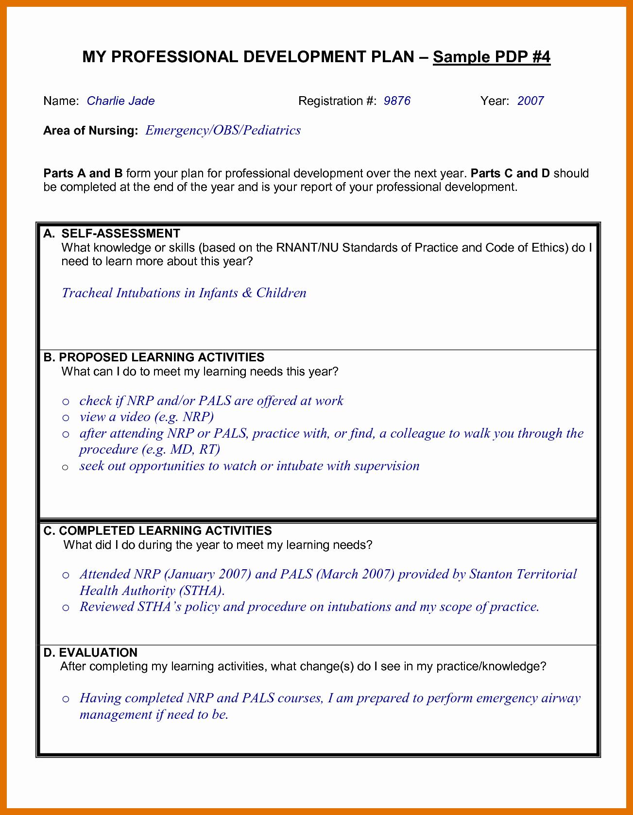 Professional Development Plan Sample for Teachers Inspirational 4 5 Professional Development Proposal Sample