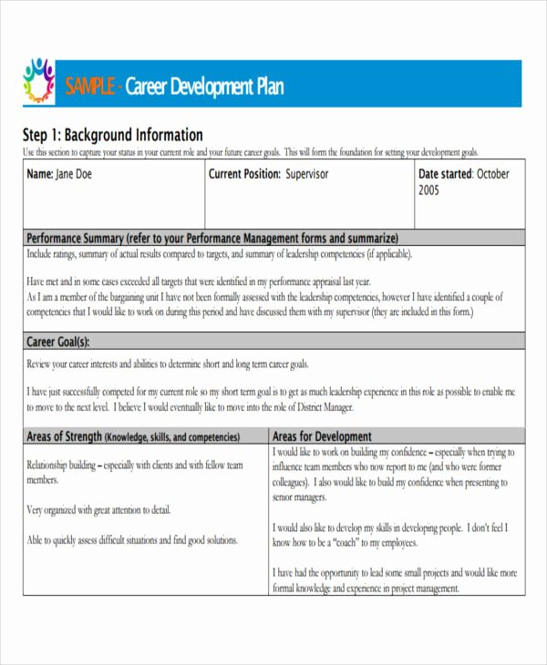 Professional Development Plan Sample Lovely 26 Development Plan Templates Pdf Word