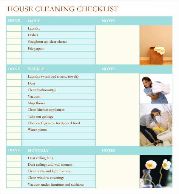Professional House Cleaning Checklist Printable Best Of Professional House Cleaning Checklist Template