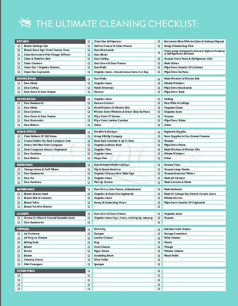 Professional House Cleaning Checklist Printable Elegant the Ultimate House Cleaning Checklist Printable Pdf