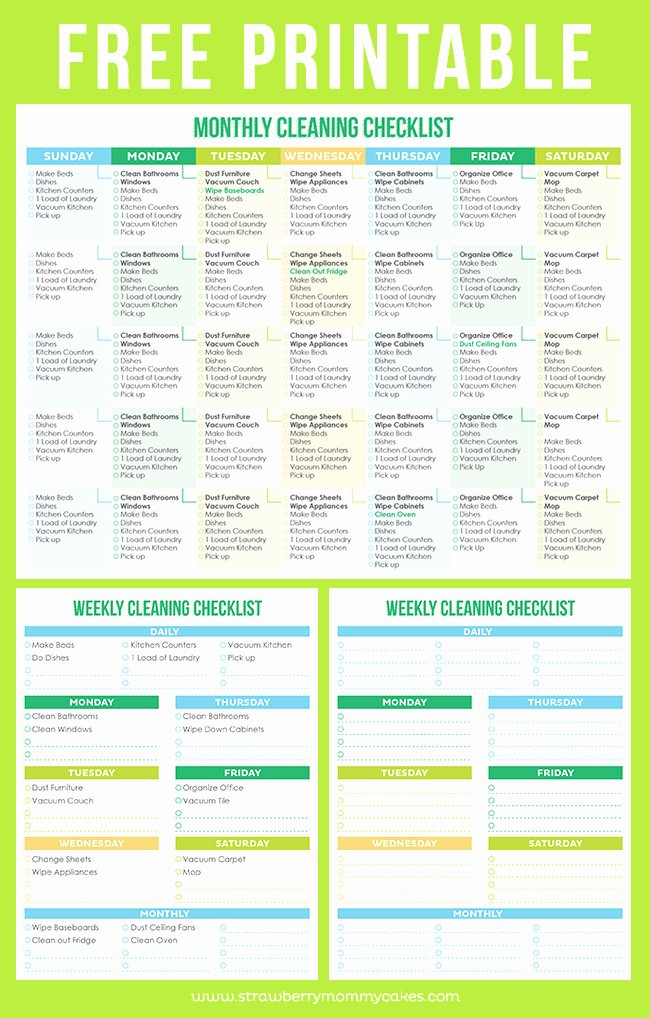 Professional House Cleaning Checklist Printable Lovely the Best Free Printable Cleaning Checklists Sarah Titus