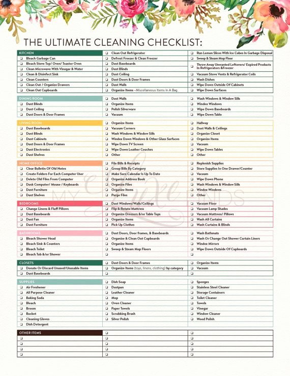 Professional House Cleaning Checklist Printable Unique 25 Bästa Idéerna Om House Cleaning Checklist På Pinterest