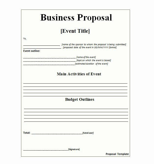 Professional Proposal Template Best Of 30 Business Proposal Templates & Proposal Letter Samples
