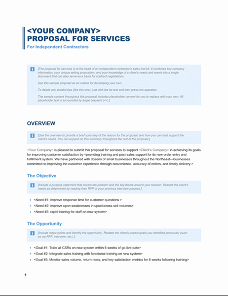Professional Proposal Template Luxury Services Proposal Business Blue Design