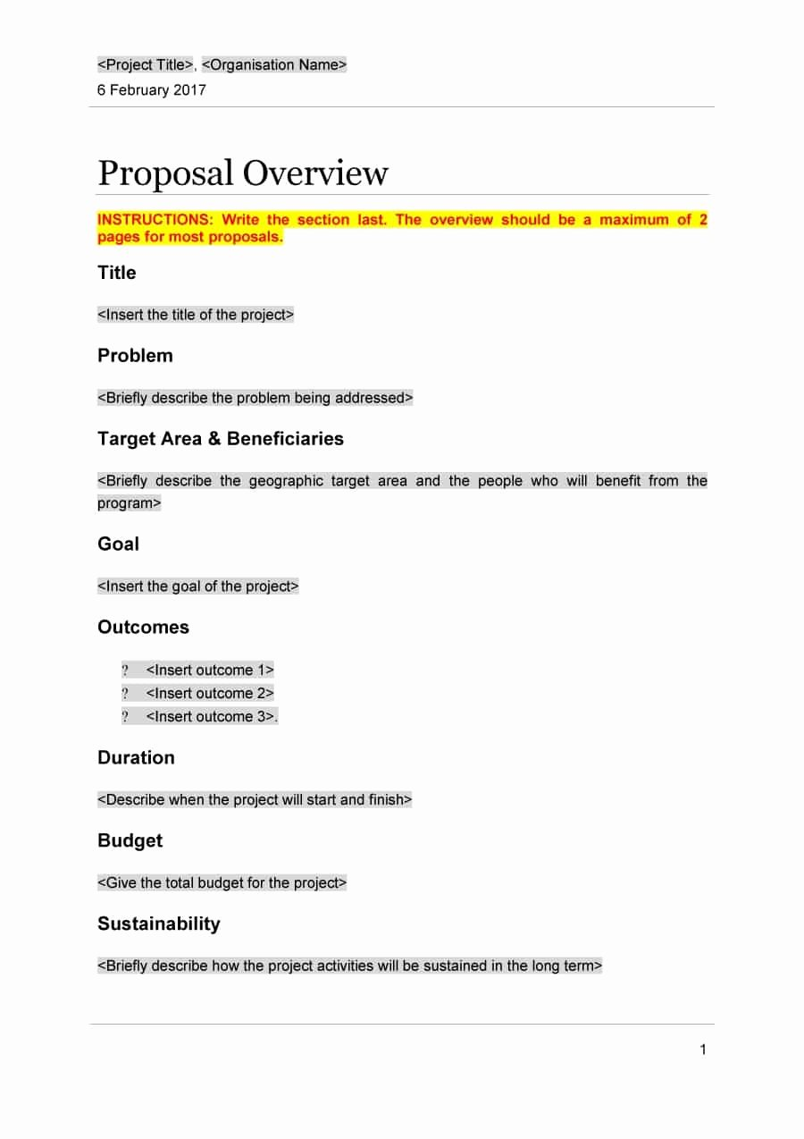 Professional Proposal Template New 43 Professional Project Proposal Templates Template Lab