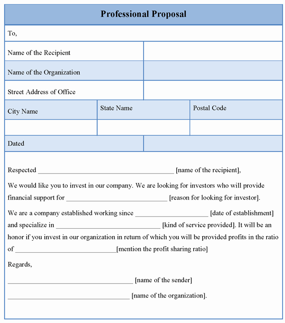 Professional Proposal Template Unique Proposal Template for Professional format Of Professional