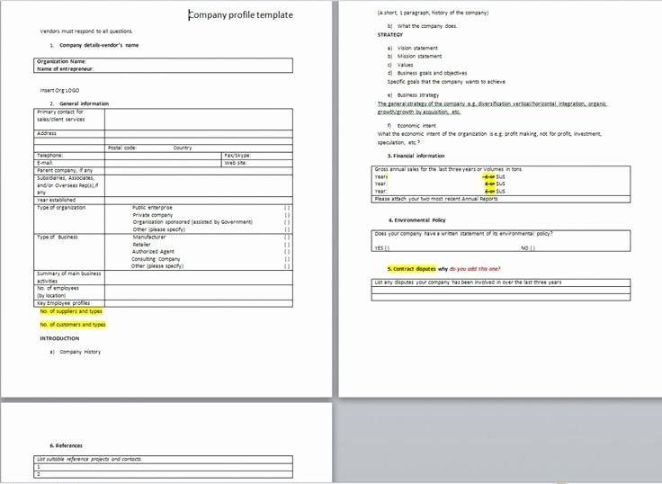 Profile Template Word Fresh Download Free Sample Pany Profile Word Templates From