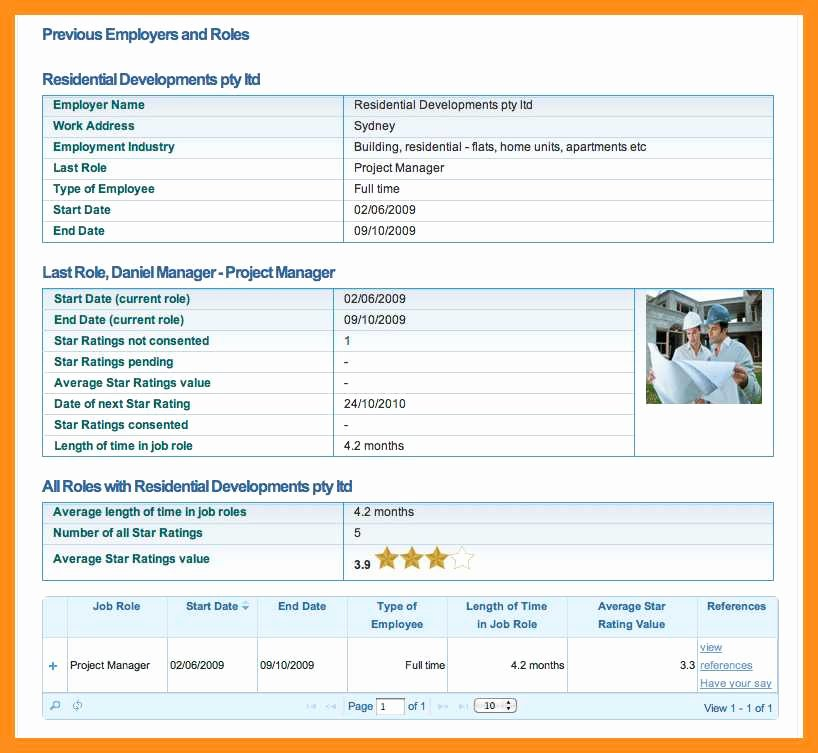 Profile Template Word Lovely 12 13 Employee Profile Template Word