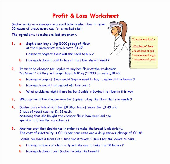 Profit and Loss Template for Self Employed Fresh Profit and Loss Statement for Self Employed
