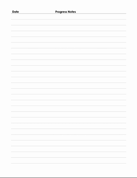 Progress Notes Template Fresh Patient Progress Notes