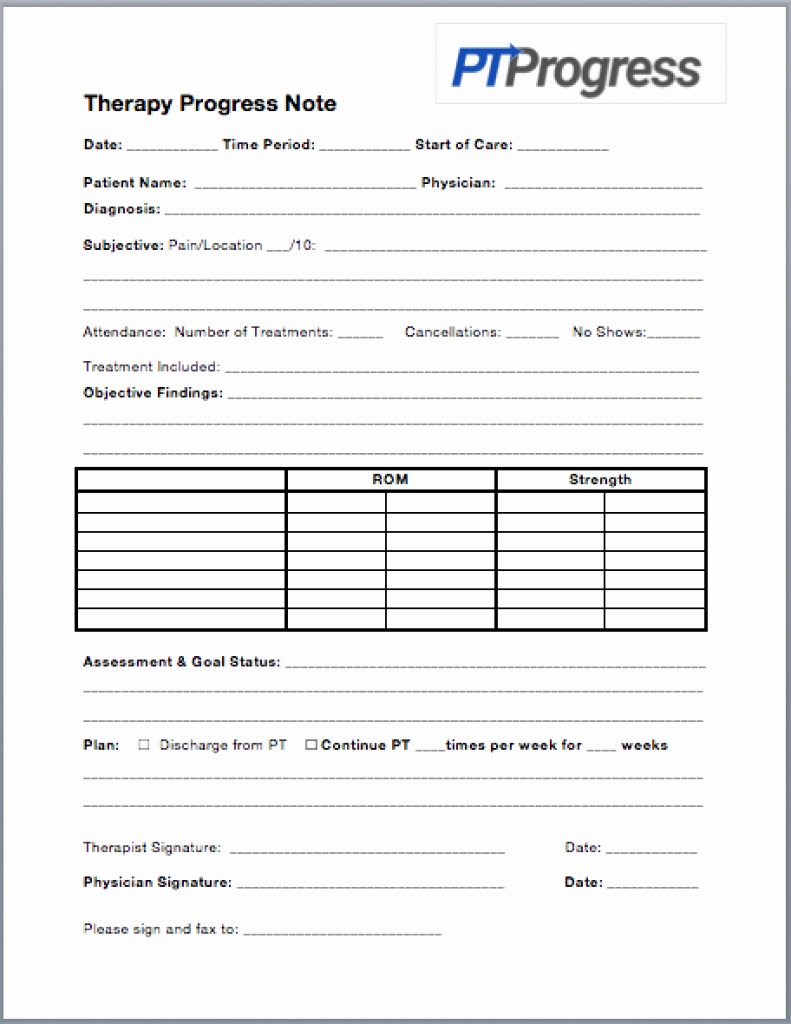 Progress Notes Template Luxury How to Write A Progress Note