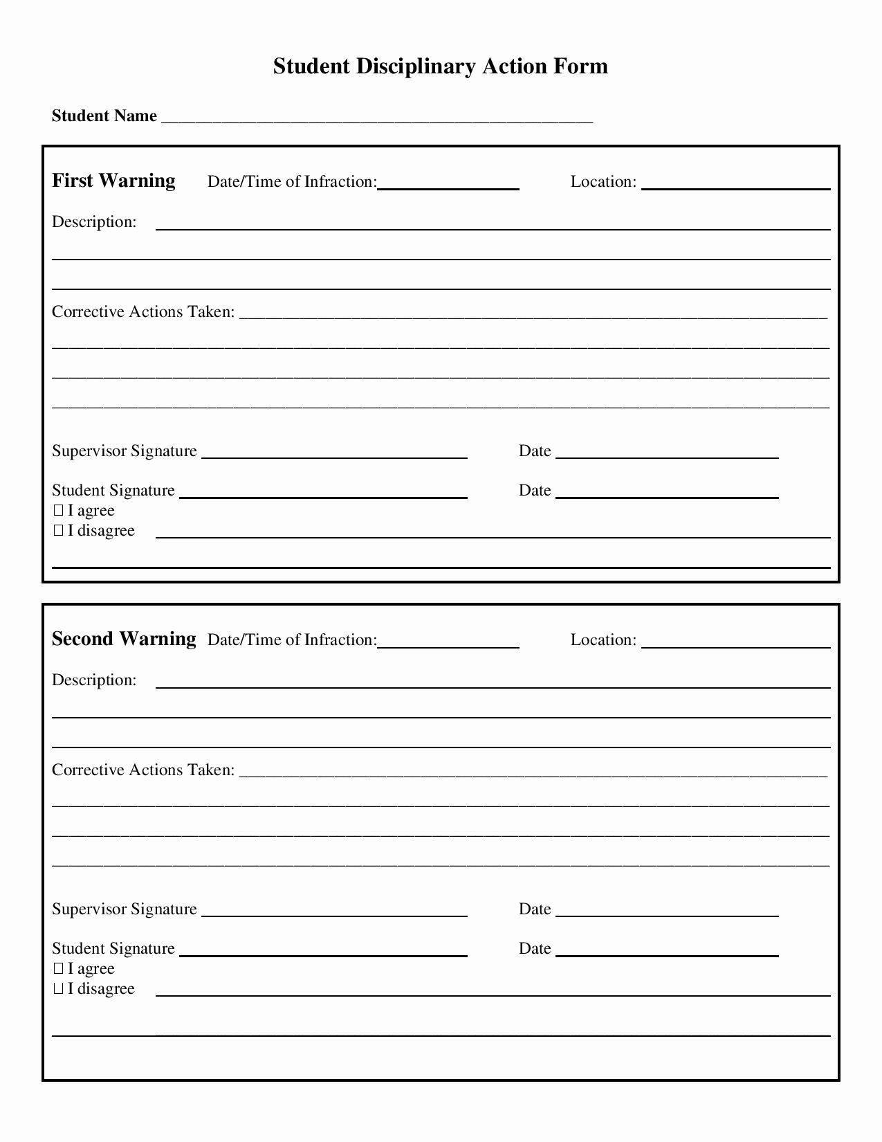Progressive Discipline form Template Unique 30 Action form Templates