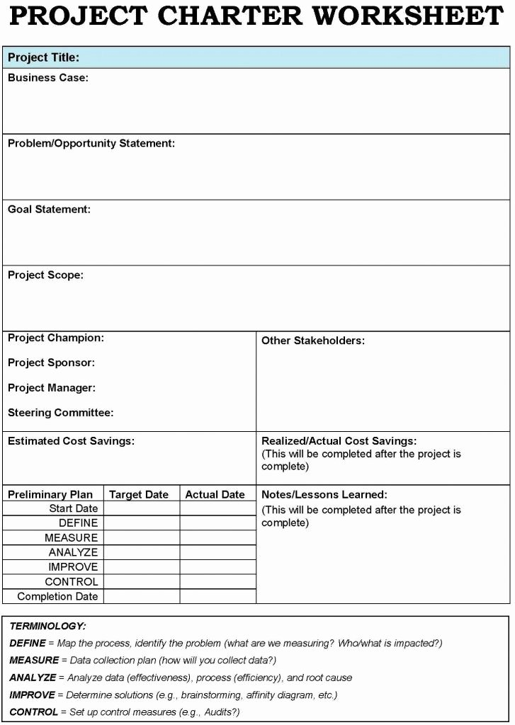 Project Charter Template Excel Inspirational Project Charter Template Apps & softs