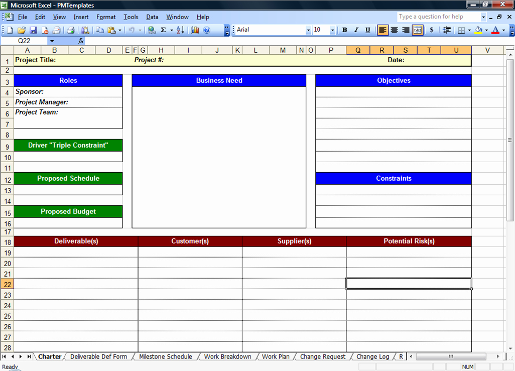 Project Charter Template Excel Lovely Excel Spreadsheets Help Free Download Project Management