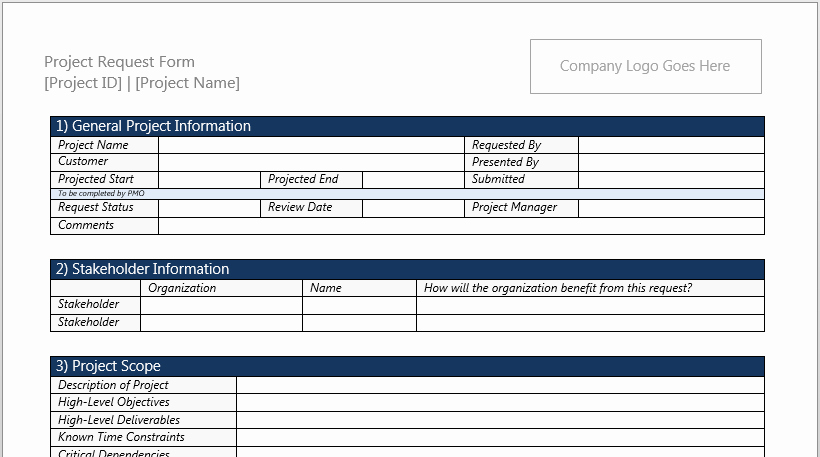 Project Charter Template Excel Unique Project Charter Template for Microsoft Word 2013