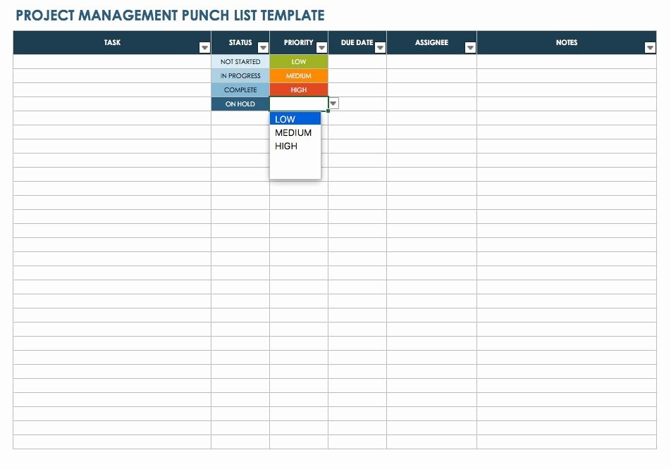 Project Closeout Checklist Sample New Free Punch List Templates