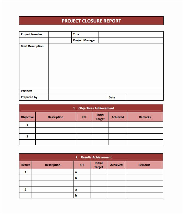 Project Closeout Report Example Inspirational Project Closure Report Template 11 Documents In Pdf Word