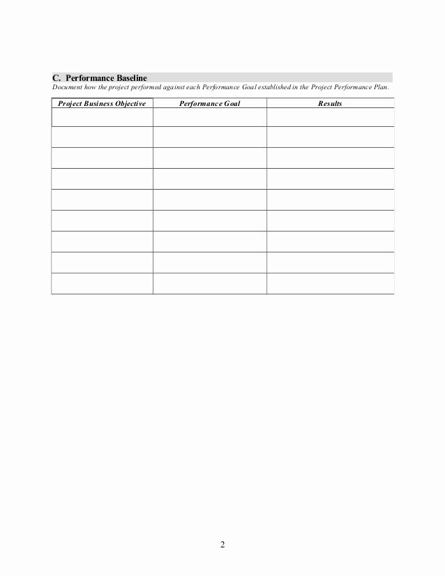 Project Closeout Report Example Lovely Project Closeout Report