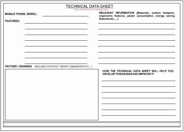 Project Data Sheet Template Inspirational Technical Data Sheet Page 2