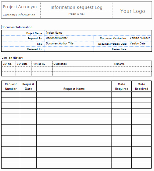 Project Information Sheet Template Best Of Request for Information Template