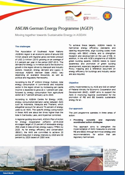 Project Information Sheet Template Elegant Agep Fact Sheet asean Centre for Energy