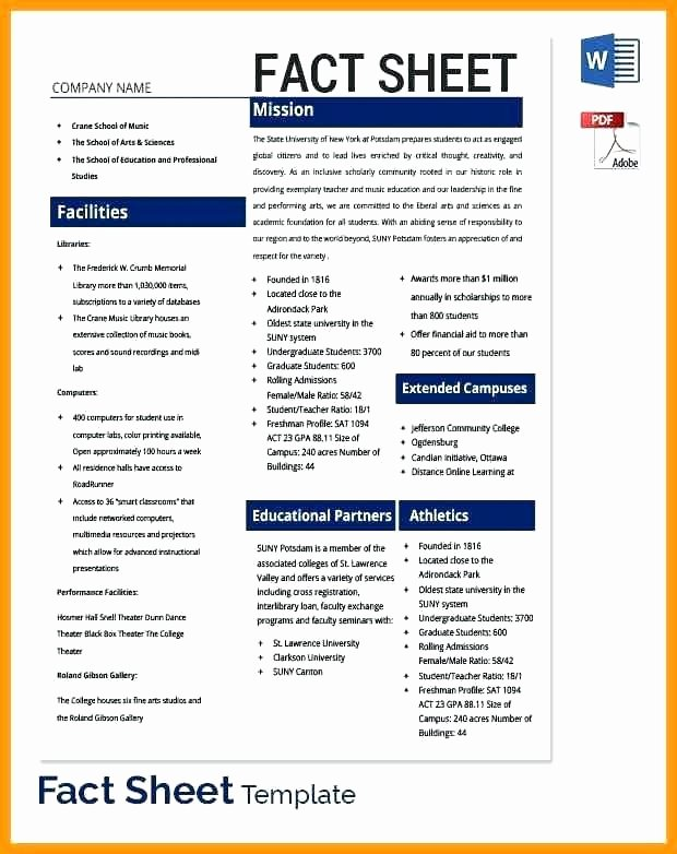 Project Information Sheet Template Lovely 9 10 Templates for Fact Sheets In Word