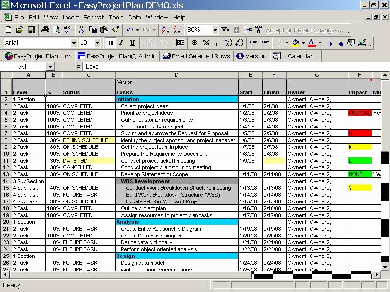 Project Plan Examples Excel Lovely Excel Project Plan Template