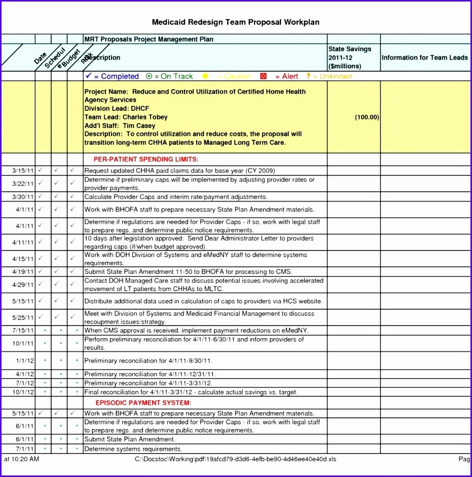 Project Plan Examples Excel New 7 Excel Implementation Plan Template Exceltemplates