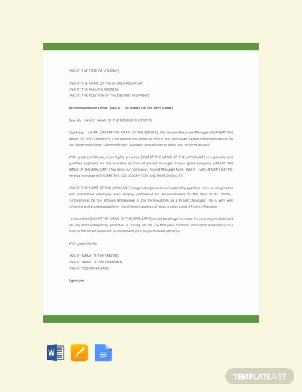 Project Recommendation Template Beautiful Free Appointment Letter for General Manager Template
